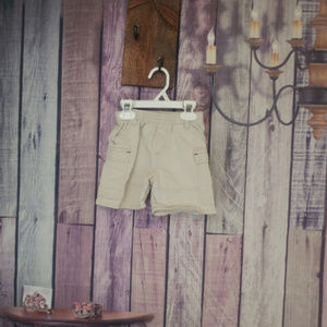 boys oshkosh bgosh tan shorts 12 month K48